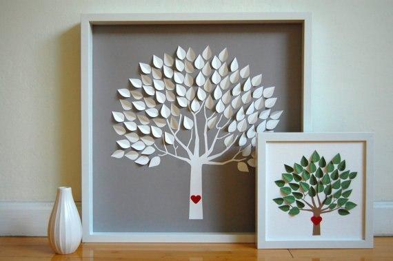 Как сделать из бумаги дерево своими руками